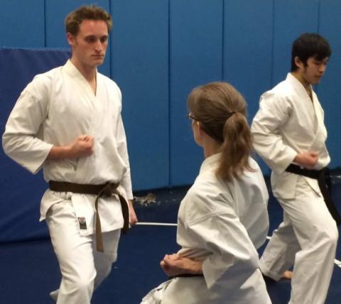 Yale Shotokan Karate Group Practice